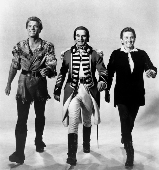 Lancaster, Olivier and Douglas in The Devil's Disciple