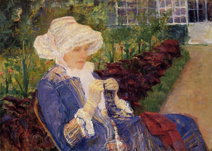 """The Garden,"" by Mary Cassatt"